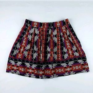 Mustard Seed Women's Geometric Print Pleated Skirt